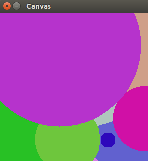 OpenCV Drawing Random Circles