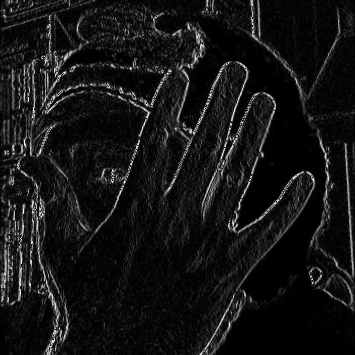 OpenCV Sobel X Image
