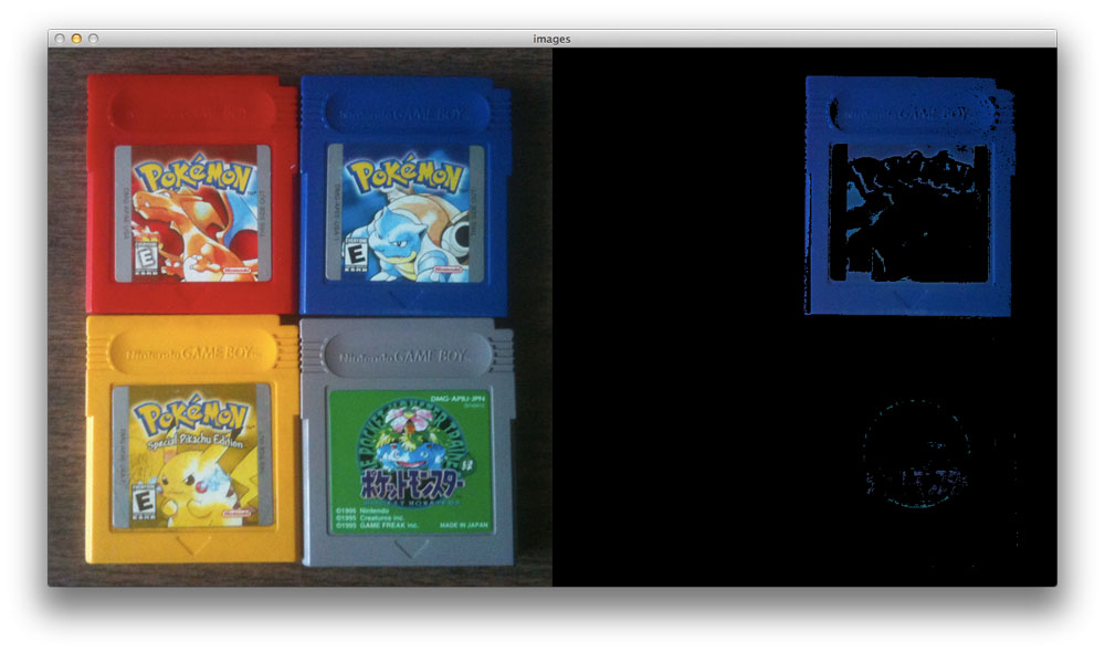 Pokemon Blue Colour Detection