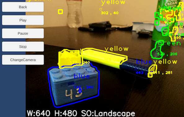 OpenCV colour tracking in Unity3D – Hand Map