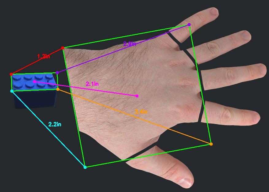 Hand measurement palm